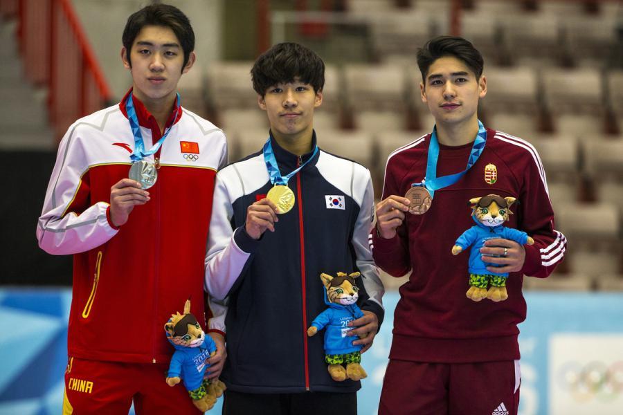 Short Track Men 1000m Podium