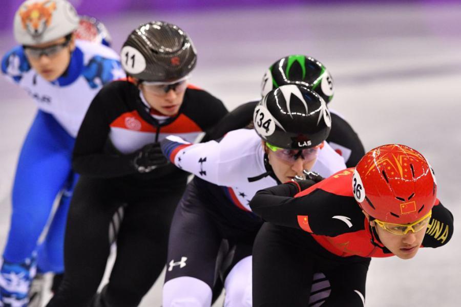 Ladies 1,500m Short Track Speed Skating ©AFP