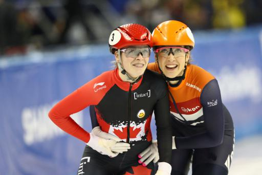 Kim Boutin (CAN) and Suzanne Schulting (NED)