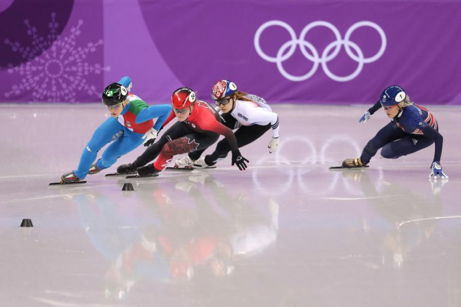 Ladies 500m Short Track Speed Skating final ©GettyImages