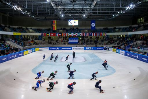 Mixed Relay World Cup Short Track Speed Skating Germany